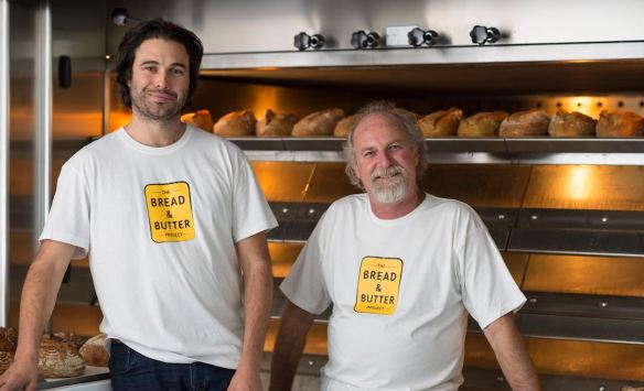 Co founders of Bourke Street Bakery Paul Allam and David McGuinness